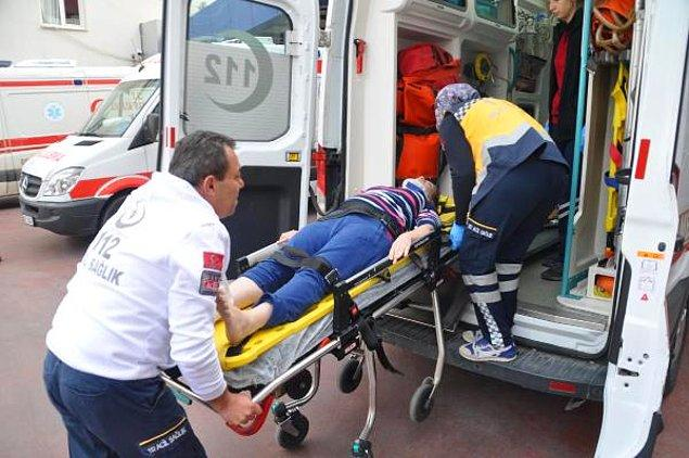Depremden korkup 1. kattan atlayan bir vatandaş yaralandı.