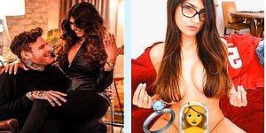 Gelin Olmuş Gidiyor! Ünlü Porno Yıldızı Mia Khalifa İsveçli Sevgilisiyle Nişanlandı