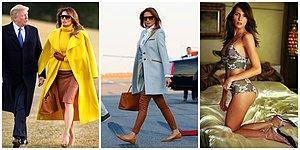 O Bu İşi Biliyor! Amerika'nın First Lady'si Melania Trump ve Bi' Bakanın Tekrar Dönüp Baktığı Muhteşem Stili