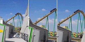 Ankapark'ta Rollercoaster Bozuldu, İnsanlar Metrelerce Yüksekte Raylardan Yürüyerek İndi!