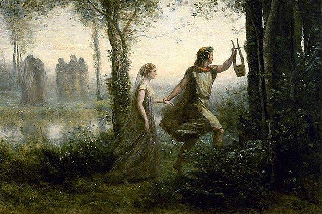 Bu olay Orpheus'un yüreğinde tarifi imkansız acılar yaratır. Acısını unutmak için dağlara çıkar, lirinden medet umar ama müzik dahil, hiçbir şey yüreğindeki sızıya merhem olmaz.