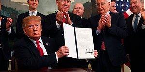 Kararname İmzalandı: Donald Trump, Golan Tepeleri Üzerinde İsrail'in Egemenliğini Resmen Tanıdı