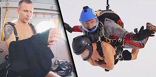Rus Sporcu, -23 Derecede Yarı Çıplak Bir Şekilde Paraşütle Atlayarak Dünya Rekoru Kırdı