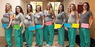 Aynı Anda Bebek Bekleyen 9 Kadın Doğum Ünitesi Hemşiresi