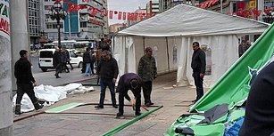 Ankara'da Tanzim Satış İçin Kurulan Çadırlar Toplanmaya Başlandı