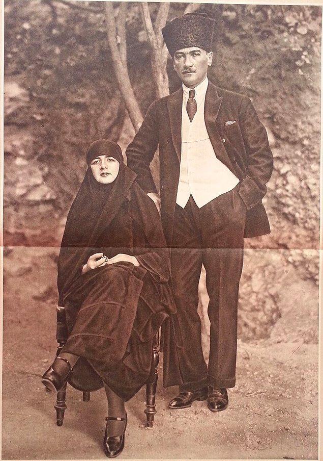 6. Mustafa Kemal ve Eşi Latife Hanım, İstanbul 1923.