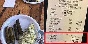 Plastik Tabakta Kısır ve Sarmaya 100 TL! Yeni Havalimanı Restoranında Ödenen Hesap Sosyal Medyanın Gündeminde