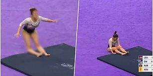 Yarışma Sırasında Geçirdiği Korkunç Kaza Yüzünden İki Bacağı Birden Kırılan ve Diz Kapakları Yerinden Çıkan Talihsiz Jimnastikçi