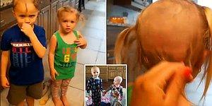 Tıraş Makinesiyle Saçlarını Kazıyan Ufaklıkların Aşırı Sevimli Yaramazlık Hikayeleri
