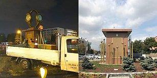 Gökçek Döneminde Konulmuştu: Mansur Yavaş Talimat Verdi, Ankara'da Tartışılan Kol Saati Anıtı Kaldırıldı