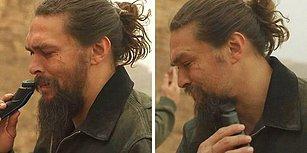 Khal Drogo'yu Canlandıran Jason Momoa, Çevre Kirliliğine Farkındalık İçin 7 Yıllık Sakallarını Kesti