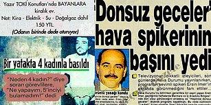 Bu Kafalardan İstiyoruz! Türk Milletinin Saykolukta Bir Numara Olduğunun Kanıtı 17 Gazete Kupürü
