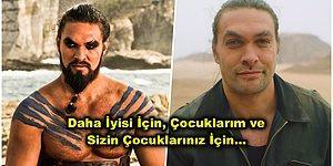 Hoşça Khal Drogo… Jason Momoa, Çevre Kirliliğine Farkındalık Yaratmak İçin 7 Senelik Sakalını Kesti!