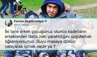 İki Erkek Babası Olan maNga Grubunun Solisti Ferman Akgül'ün Çocuklarıyla İlgili Yazdığı Tweete Gelen Birbirinden Komik Tepkiler