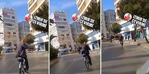 İzmir Büyükşehir Belediye Başkanı Tunç Soyer, İşe Bisikletle Giderken Görüntülendi!