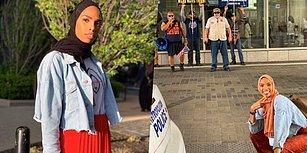 İslam Karşıtı Protestocuların Önünde Göğsünü Gere Gere Çektirdiği Fotoğrafla Koca Bir Alkışı Hak Eden Müslüman Kadın
