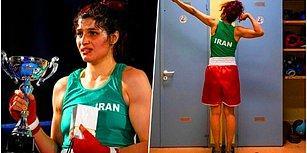 """Ülkesinin """"Kıyafet Kurallarına"""" Uymadığı İçin Hakkında Tutuklama Kararı Çıktığını Söyleyen Boksör Sadaf Khadem İran'a Dönmekten Vazgeçti"""