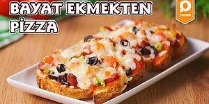 Bayat Ekmekleri Değerlendirmenin En Leziz Yolu! Bayat Ekmekten Pizza Nasıl Yapılır?