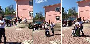 Engelli Öğrencisiyle Dans Eden Öğretmenin Muhteşem Görüntüleri