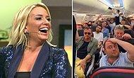 Saba Tümer, Uçaktan Video Paylaştı: 'Torpilli Bir Yolcu İçin Yaşlı Bir Kadını Zorla İndirdiler'