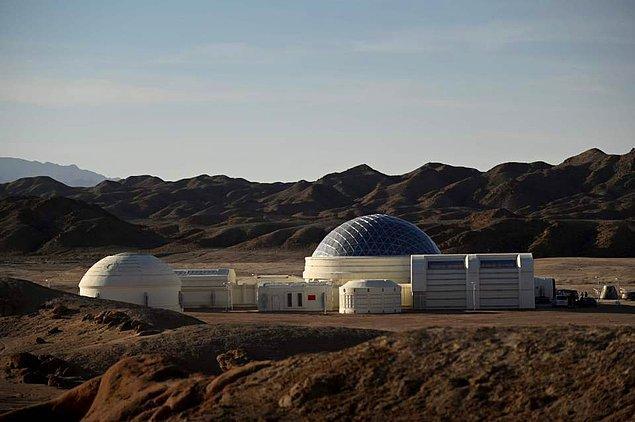 Mars Üssü 1 Kampı, Gobi Çölü'nde yer alıyor.