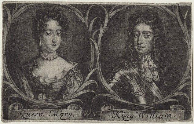 8. Hollanda Prensi William, 1688 yılında bir ihtilalle İngiltere kralı oldu. İngiltere Kralı II. James koyu bir Katolik idi ve Protestanlığı benimseyen hanedanın diğer ileri gelenleri bu durumdan hoşnut değillerdi.