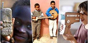 Parayla Saadet Olmayacağını Oyuncaklarını Kendi Elleri ile Yaparak Gösteren Dünyanın Dört Bir Yanından Çocuklar