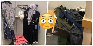 Deneme Kabinlerini Kendi Odasından Daha Beter Halde Bırakan 17 Zalım Alışveriş Çılgını