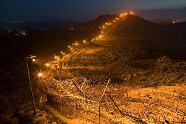 16. Güney ve Kuzey Kore'nin arasında kimseye ait olmayan yaklaşık 250 kilometrelik bir alan bulunur ve bu alanda nadir görülen hayvan türleri bolca yaşar.