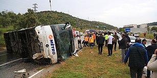 Üç Kişi Can Vermişti: Muğla'da Otobüsün Devrilme Anı Güvenlik Kamerasında