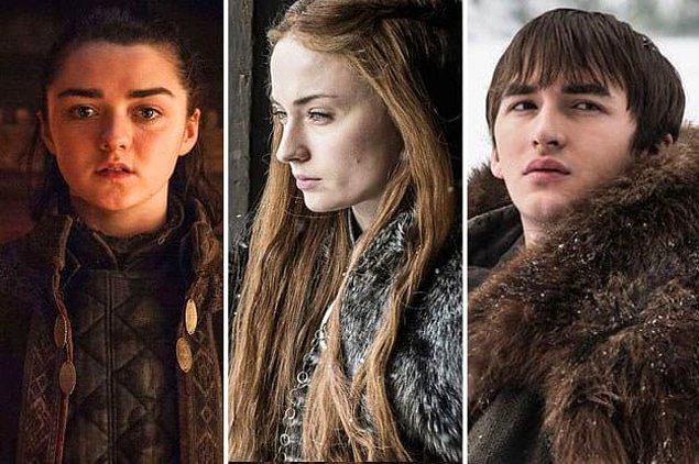16. Ve Maisie Williams, Sophie Turner ve Isaac Hempstead Wright o kadar gençlerdi ki, Game of Thrones onların ilk iş deneyimi oldu!