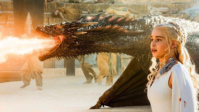 Bazı seyirciler, ortada görünmeyen Drogon'un yumurtladığı ve bebek ejderhaların olduğu fikrine inanıyor!