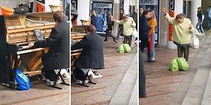 Kendini Piyanonun Ritmine Kaptırıp Transa Geçen Kadın
