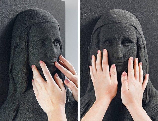 Görme engelli insanlar için ünlü resimlerin 3D baskıyla yapılmış görüntüleri.