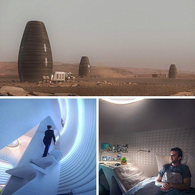 BONUS: 3D yazıcılar Mars'ta astronotlar için bir üs oluşturacak!
