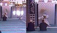 Camiye Girerek Ortalığı Birbirine Katan Kedi, İmamın Üstüne Atladı!