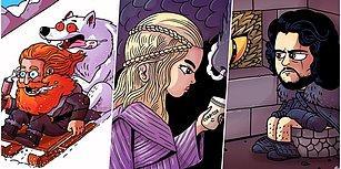 Alternatif Bir Evrende Game of Thrones Karakterlerine Hayat Veren İllüstratörün Birbirinden Eğlenceli Çizimleri