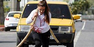 Güreşçi Kardeşler, Türkiye'yi Avrupa'da Temsil Etmek İçin Otomobil Çekerek Antrenman Yapıyor!