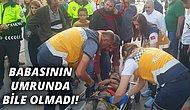 Araba Çarpan Çocuğu Acılar İçinde Yerde Yatarken İlgisiz Tavırlarıyla Dikkat Çeken Baba!