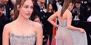 Meryem Uzerli'nin Cannes Film Festivali Açılış Gecesinde Giydiği Transparan Elbise Olay Oldu!