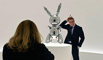 Rekor Kırdı: Jeff Koons'un Tavşan Heykeli 91 Milyon Dolara Satıldı