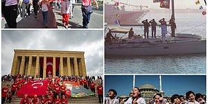 Gençlik 100. Yılda Ulu Önder Atatürk'ü Andı: Yurttan 19 Mayıs Manzaraları