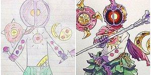 Oğlunun Çizimlerini Anime Karakterlerine Dönüştürüp Şaheserler Yaratan Harika Baba