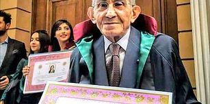 77 Yaşında Hukuk Fakültesinden Mezun Olarak Eğitimin Yaşının Olmadığını Gösteren ve Hayallerine Kavuşan Namık Amca