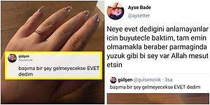 Twitter'da Mutluluğunu Paylaşan Kadının Yüzüğüyle Dalga Geçilince Ortalık Birbirine Girdi!