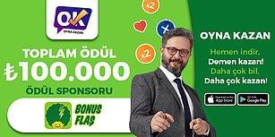 Pazar günü 21:30'da BonusFlaş QR Ödül Sponsorluğunda 100.000 Lira Kazandırıyoruz!