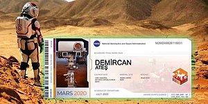Mars'a Biletiniz Hazır: NASA Belki Cisminizi Değil Ama Acele Ederseniz 'İsminizi' Mars'a Götürecek!
