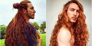 Erkek Rapunzel! Yaklaşık 1 Metre Olan Saçına Aldığı Eleştirilere Rağmen Bebekler Gibi Bakan Ünlü Oyuncu Cristiano Braga