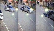 Kadına Yönelik Şiddet Kamerada: Yumruklandı, Otomobilden Atıldı ve Metrelerce Sürüklendi