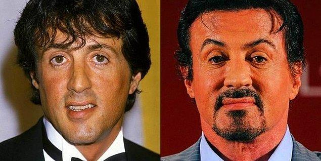 5. Sylvester Stallone'ın kaşları yaptırdığı botoksun habercisi gibi.